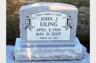 Single Grave Monument for John Eiling 201721