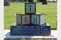 Single Grave Monument for Thatcher Helmig 201718
